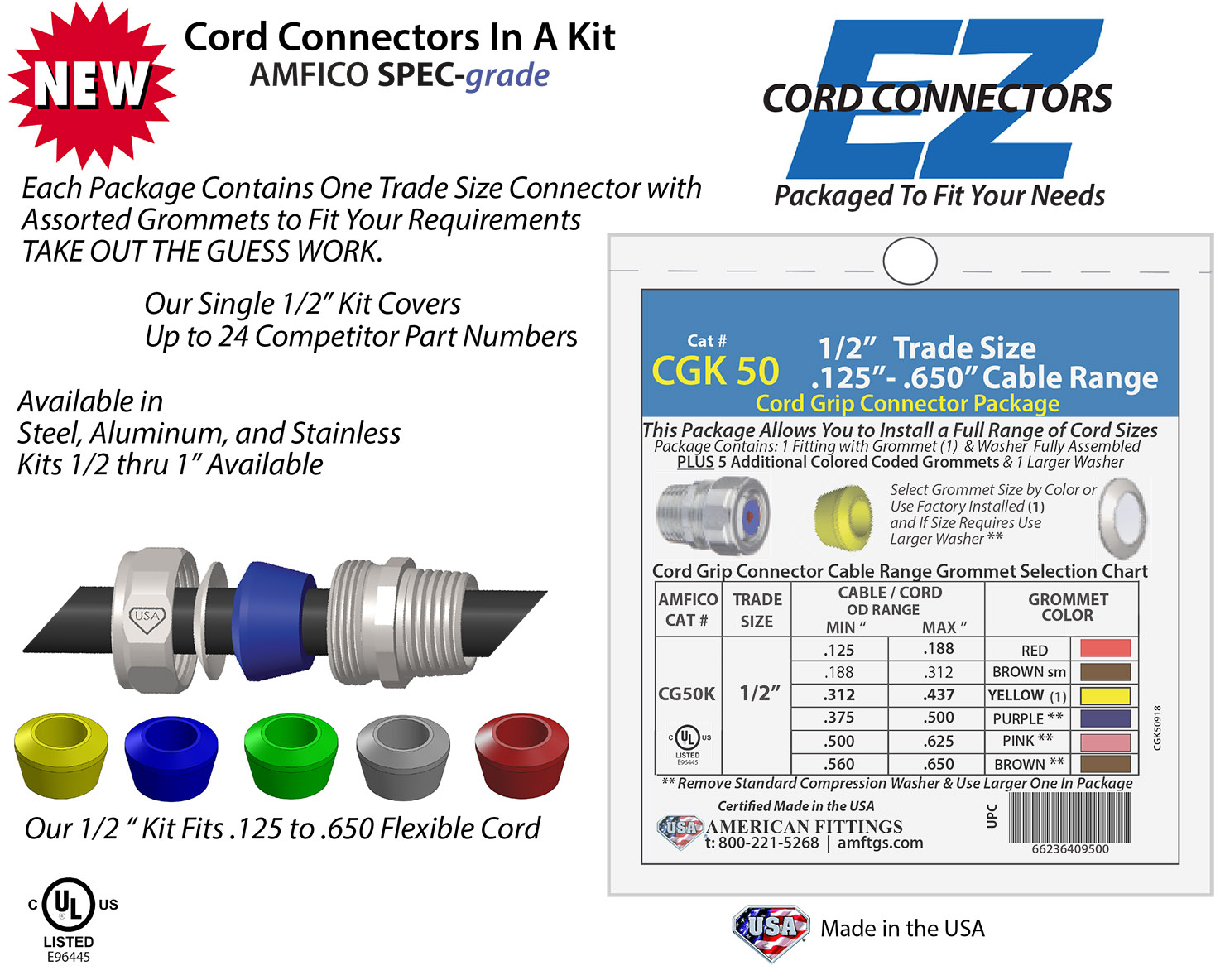 Cord Grip Kits by American Fittings