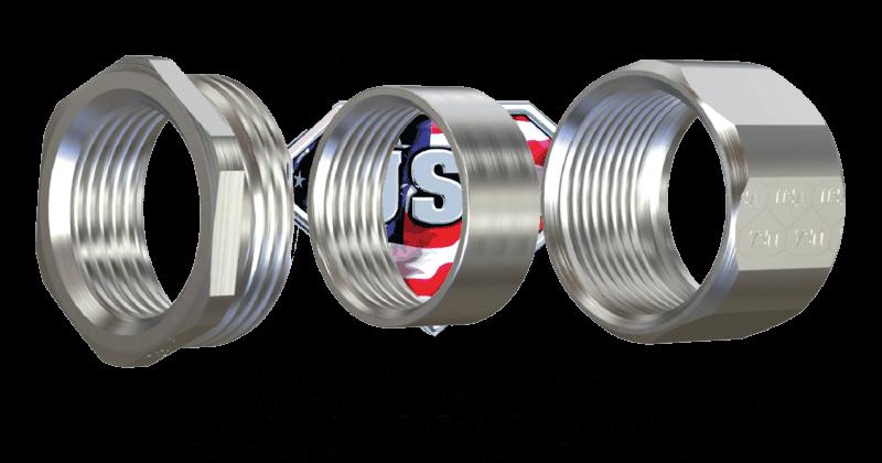 3 piece coupling steel USA